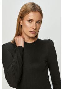 Czarny sweter rozpinany Haily's raglanowy rękaw