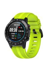 Zielony zegarek GARETT smartwatch, sportowy