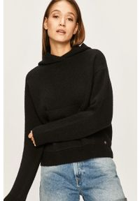 Czarny sweter Pepe Jeans z kapturem