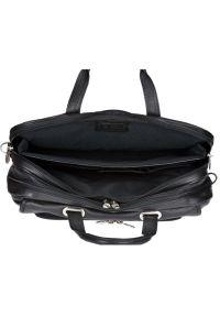 Torba na laptopa MCKLEIN Irving Park 15.6 cali Czarny. Kolor: czarny. Materiał: skóra. Styl: biznesowy, klasyczny, sportowy, casual