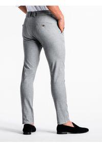 Szare spodnie Ombre Clothing eleganckie