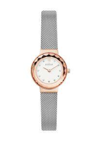 Skagen - Zegarek SKW1112. Kolor: srebrny. Materiał: materiał