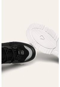 Czarne buty sportowe ANSWEAR na sznurówki, z cholewką