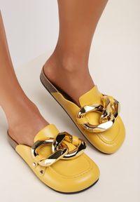 Renee - Żółte Klapki Rogena. Kolor: żółty