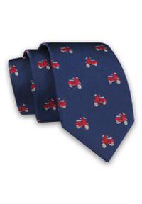 Czerwony krawat Alties na co dzień, klasyczny