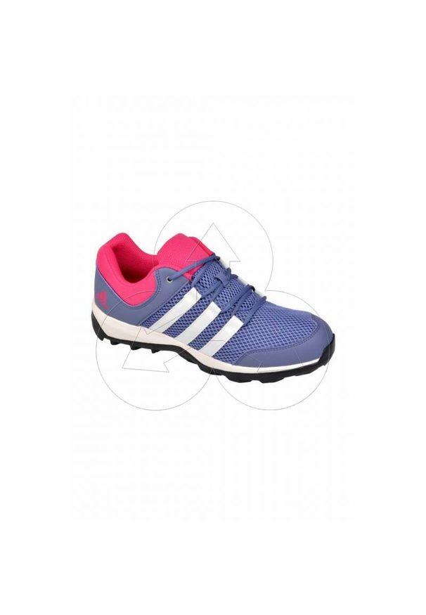 Buty trekkingowe Adidas wąskie, w kolorowe wzory, z paskami