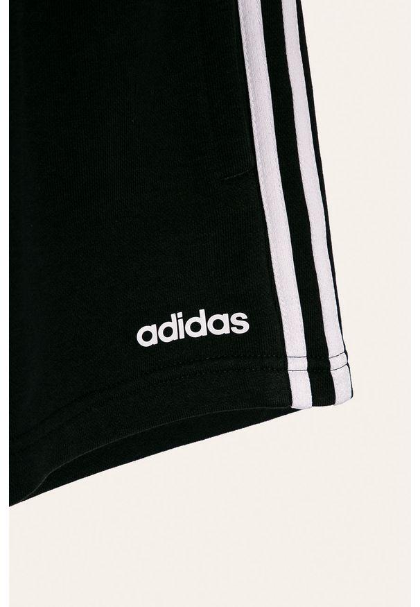 Czarne spodenki Adidas casualowe, na co dzień