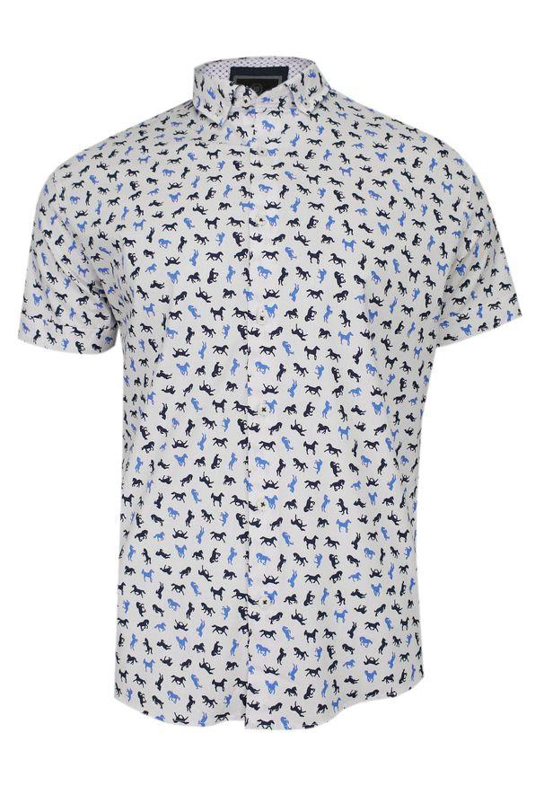 Elegancka koszula TO-ON krótka, z krótkim rękawem