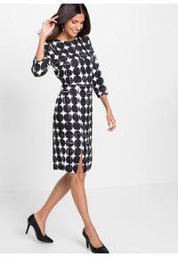 Sukienka ołówkowa bonprix czarno-biały wzorzysty. Kolor: czarny. Typ sukienki: ołówkowe