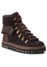 Brązowe buty trekkingowe See By Chloé z cholewką