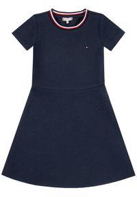 Niebieska sukienka TOMMY HILFIGER casualowa, prosta, na co dzień