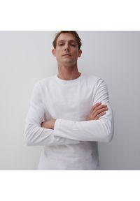 Reserved - Bluzka z długim rękawem Basic - Biały. Kolor: biały. Długość rękawa: długi rękaw. Długość: długie