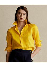 Żółta koszula Ralph Lauren z aplikacjami, polo