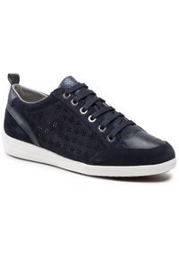 Geox - Sneakersy GEOX - D Myria D D0268D 022BC C4002 Navy. Kolor: niebieski. Materiał: skóra, zamsz. Szerokość cholewki: normalna. Obcas: na płaskiej podeszwie