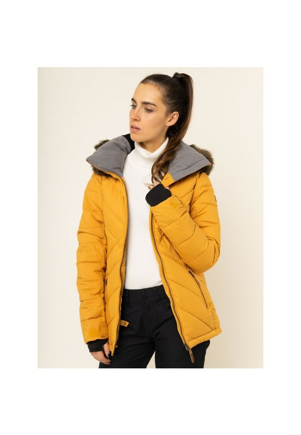 Żółta kurtka narciarska Roxy