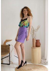 Fioletowa spódnica Nommo krótka