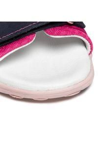 RenBut - Sandały RENBUT - 31-4401 Granat/Amarant 2. Okazja: na co dzień. Kolor: różowy. Materiał: skóra, zamsz. Wzór: aplikacja. Styl: casual #3