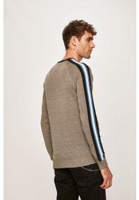 Szary sweter Blend na co dzień, raglanowy rękaw, casualowy