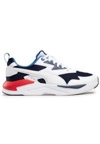 Puma - Sneakersy PUMA - X-Ray Lite 374122 10 White/White/Peacoat/Sapphire. Okazja: na co dzień. Kolor: biały, wielokolorowy, niebieski. Materiał: skóra, skóra ekologiczna, materiał. Szerokość cholewki: normalna. Styl: klasyczny, casual