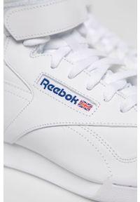 Białe sneakersy Reebok Classic z cholewką, Reebok Classic, z okrągłym noskiem