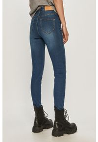 Niebieskie jeansy Noisy may gładkie