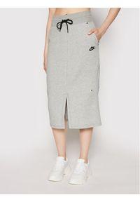 Nike Spódnica midi Sportswear Tech CZ8918 Szary Standard Fit. Kolor: szary