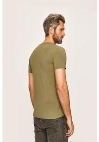 T-shirt Pepe Jeans z nadrukiem, z okrągłym kołnierzem, casualowy, na co dzień
