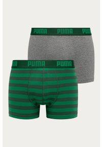 Zielone majtki Puma z nadrukiem