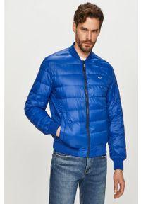 Niebieska kurtka Tommy Jeans gładkie, casualowa, na co dzień