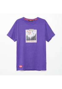 Fioletowy t-shirt Cropp