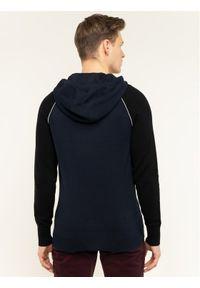 TOMMY HILFIGER Bluza Woolblend Raglan Hoody MW0MW12260 Granatowy Regular Fit. Kolor: niebieski. Długość rękawa: raglanowy rękaw
