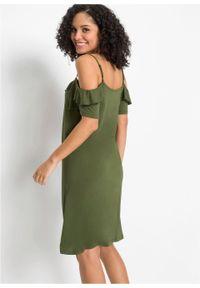 Zielona sukienka bonprix prosta