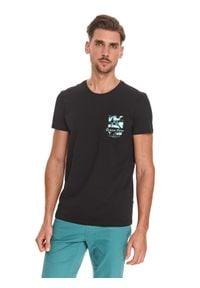 TOP SECRET - T-shirt z nadrukiem. Kolor: szary. Materiał: tkanina, bawełna. Długość rękawa: krótki rękaw. Długość: krótkie. Wzór: nadruk. Sezon: lato. Styl: klasyczny