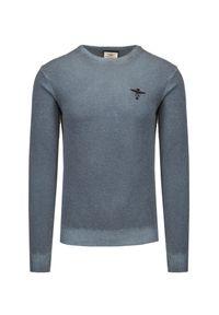 Aeronautica Militare - Sweter wełniany AERONAUTICA MILITARE. Materiał: wełna. Styl: klasyczny