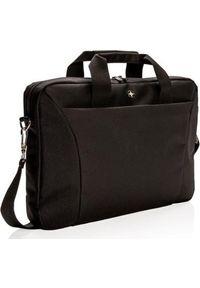 Czarna torba na laptopa Swiss Peak