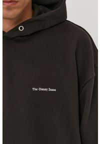 Czarna bluza The Classy Issue na co dzień, z nadrukiem, casualowa, z kapturem