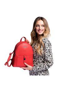 Czerwony plecak Wittchen z aplikacjami, elegancki