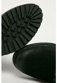 Wrangler - Kozaki. Nosek buta: okrągły. Kolor: czarny. Szerokość cholewki: normalna