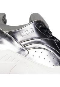 Srebrne buty sportowe GOE na co dzień, z cholewką