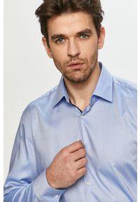 Niebieska koszula Hugo gładkie, klasyczna