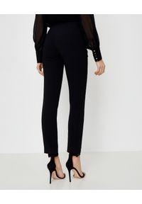 LA MANIA - Eleganckie czarne spodnie. Kolor: czarny. Materiał: materiał. Styl: elegancki