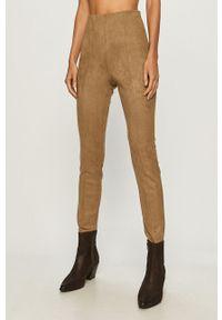 Spodnie materiałowe Vero Moda z podwyższonym stanem