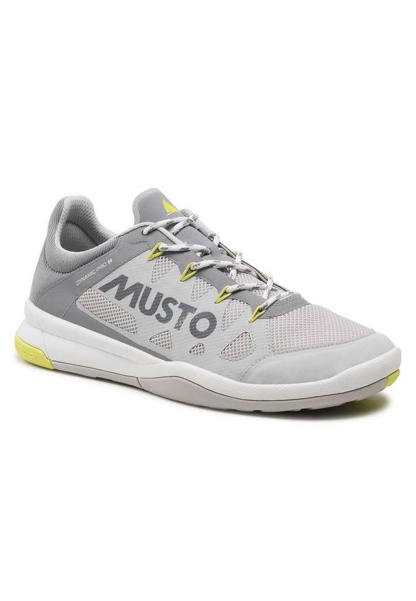 Musto - Buty MUSTO - Dynamic Pro II Adapt 82027 Platinum. Kolor: szary. Materiał: materiał. Szerokość cholewki: normalna