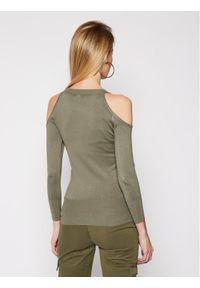 Zielony sweter klasyczny Guess