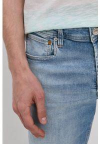 Jack & Jones - Szorty jeansowe. Okazja: na co dzień. Kolor: niebieski. Materiał: jeans. Styl: casual