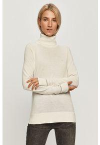 Kremowy sweter Calvin Klein długi, na co dzień