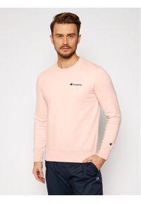 Champion Bluza Small Script Logo 214781 Różowy Comfort Fit. Kolor: różowy