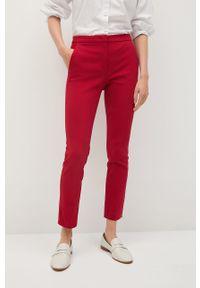Czerwone spodnie materiałowe mango