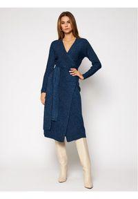 Niebieska sukienka dzianinowa MAX&Co.