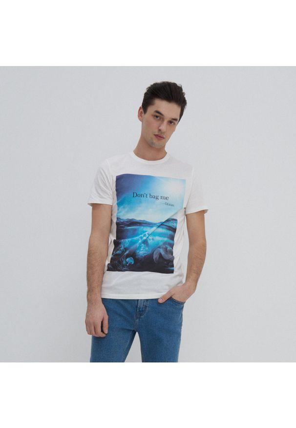 House - Koszulka z fotograficznym nadrukiem - Kremowy. Kolor: kremowy. Wzór: nadruk